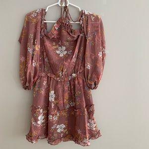 Tularosa floral mini dress